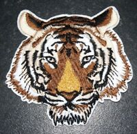 Bengal Tiger Patch Big Cat Embroidered Iron Sew On Applique Badge Lion Panther