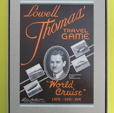 Lowell Thomas World Cruise travel game 1937 Parker Brothers