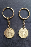 2pcs CW Morse Code Decoder Chart Medal Coin Commemorative Gift + key ring chain