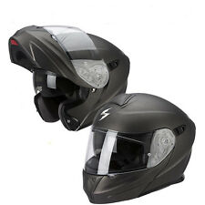 CASCO MODULARE APRIBILE MOTO SCOOTER SCORPION EXO 920 SOLID ANTRACITE OPACO