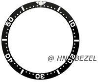 BLACK CERAMIC BEZEL INSERT FOR SEIKO 6309-7040-7049 SUWA TURTLE 6309A LUME