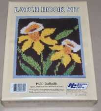 "1986 National Yarn Crafts Yellow ""Daffodils"" Floral Latch Hook Kit 12x12"""