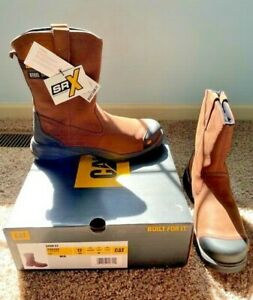 "CAT Caterpillar Spur 9"" Wellington Steel Toe Boots! NEW! Size 12 Wide!"