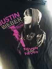 Justin Bieber Never Say Never College Track Benefit 2011 Concert T Shirt Size XL