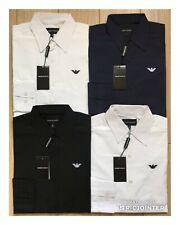 Emporio Armani Popelina camisa de mangas largas-Hombre Nuevo