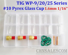 26 pcs TIG Welding  Gas Lens #10 Pyrex Glass Cup Kit for WP-9/20/25 1.6mm 1/16""