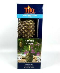 Tiki Brand Aloha Pineapple Glass Torch Copper - NEW