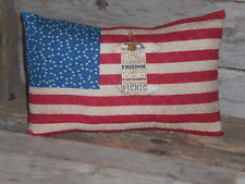 1 Grungy Primitive Patriotic Americana USA July 4 Flag Bowl Filler Pillow