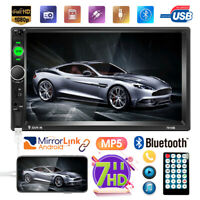 "7"" 2DIN Car Stereo Radio Bluetooth HD MP5 Player Touch Screen TF AUX IN USB"