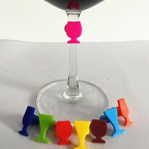 Cup Marker Wine Glass Identifier Silicone Shape Set Party Sign Drinking Reusable