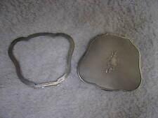 poudrier argent 800 italie (italian silver powder compact) st L XV 54gr