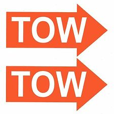 2 x TOW ORANGE ARROWS Race / Rally Car Decals / Stickers