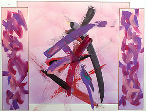 """Andre Abel """"Touch of Color"""" Signed Original Acrylic Painting on Paper MAKE OFFER"""