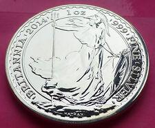"""2014 Royal Mint Britannia """"error de menta / mula"""" plata £ 2 Dos Libra 1 Oz Moneda"""