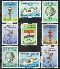 Yemen 1964 Sport/Olympics/Olympic Games/Swimming/Torch/Flags 9v set (n37393)