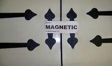 """Garage Door Decorative Hinges -  MAGNETIC - 24"""" + HANDLES + DEVIDING LINE"""