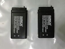 SUNCA 4v 1000mAh(1.0Ah) Rechargeable SMF Battery 2 pcs