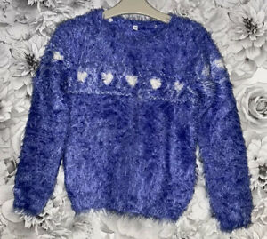 Girls Age 7-8 Years - M&S Fluffy Jumper Top