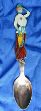 7009-0001. Sterling Silver Souvenir Spoon Enameled Our Lady of the Snows