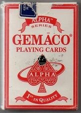 JEU DE CARTES DE POKER   GEMACO ALPHA ROUGE   JOUEES AU TECH ART II FACES CASINO