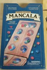 Mancala board game wood box and Tin cover