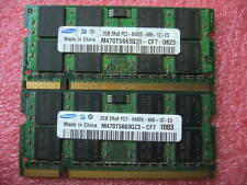 4GB Lot, QTY 2x 2GB Samsung DDR2 PC2-6400S 200-pins SO-DIMM memory