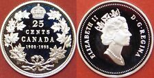 Proof 1908-1998 Canada Silver 25 Cents From Mint's Set