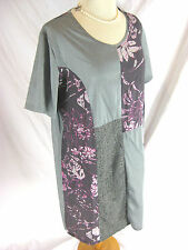 Great Sz XL 16 Lilia Designer Tunic Top Greys