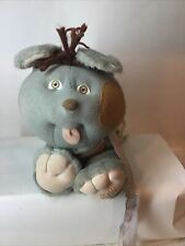 Vintage 1986 Cabbage Patch Kids Cpk Pets Plush Stuffed Toy Gray & Brown Dog Rare