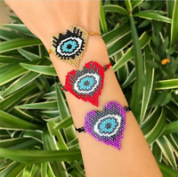 MIYUKI Heart Bracelet Jewelry Evil Eye Bracelets  Seed Beads