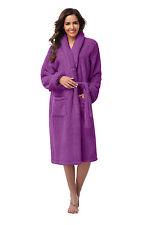 Bathrobe Coral Fleece Robe Women -Hood or Shawl -  Thick - VERY SOFT -Long