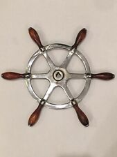"""Vintage/Antique Small 16"""" Brass Ship's Boat Maritime Nautical Wheel"""