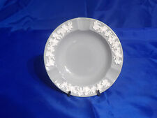 """WEDGWOOD EMBOSSED QUEENS WARE 5"""" Round Ashtray in Cream Color on Grey (Plain)"""