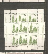 pk31239:Stamps-Canada #790 Parliament Plate 2  17 cent Set of Plate Blocks-MNH