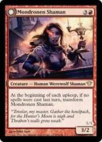 MONDRONEN SHAMAN Dark Ascension MTG Red Creature—Human Werewolf Shaman RARE