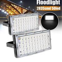 50W 50LED Projecteur LED Spot Extérieur détecteur Eclairage Étanche Jardin FR