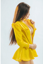 Latex Rubber Gummi Lace Hem Style Collect Waist Dress Unique Sexy Customize .4mm