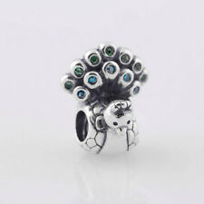 BEAUTIFUL PEACOCK .925 Sterling Silver European Charm Bead P1
