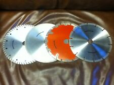 "4 Diamond Saw Blades 7"" Concrete Brick Tile Glass Stone; RUST/SCRATCHES PRESENT"