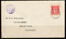 Jersey 1941 First Day Cover To Guernsey - German Occupation - Fine used