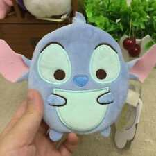 Disney lilo&stitch blue Plush coin bag money card handbag oranment zip new