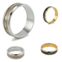 Fashion Gold Silver Stainless Steel Ring Titanium Men SZ 7 - 2 Wedding Band Ring