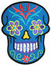 Sugar-Skull Toten-Kopf Tribal Biker Flower Power Goa MC Aufnäher Patch Aufbügler