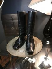 Gucci Authentic Black Boots Soft Leather  Women's Sz 38.5/US8.5 Italy