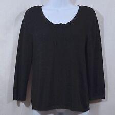Women's Beautiful L Large Josephine Chaus Black 3/4 Sleeve Top