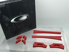 AUTHENTIC OAKLEY FLAK JACKET EAR SOCKS & NOSE PADS KIT. NEW! 06-214 Red