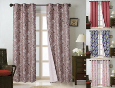 "1PC (FLORA) HIGH QUALITY WINDOW CURTAIN BLACKOUT ROOM DARKENING IN 36"" LONG"