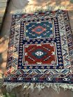 Turkish Vintage Area Rug Hand Knotted 3.5 X 5 ft.