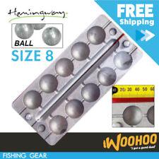 Size 8 Fishing Ball Sinker Mould Combo DIY Fisher Sink Tackle Item 5 Balls AU