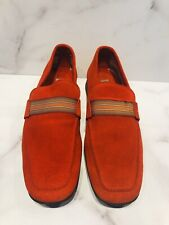 Vogue Espana Red Suede Men's Loafers Shoes